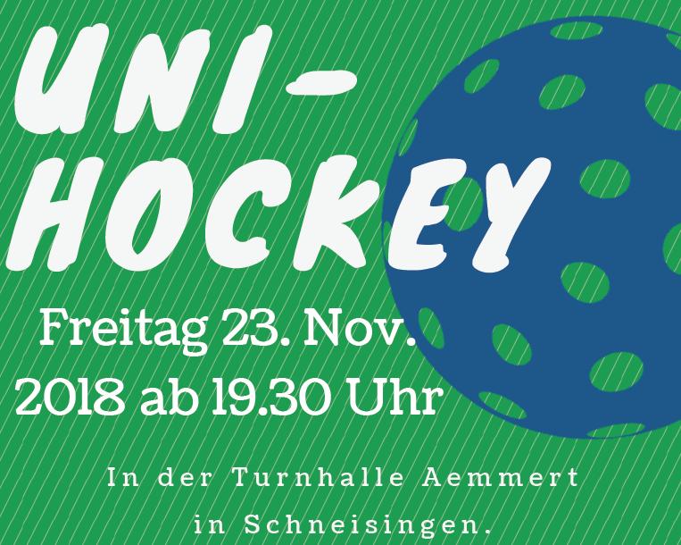 Unihockey Plauschturnier Flyer